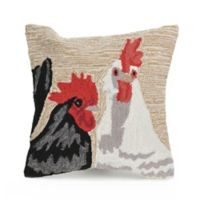 Liora Manne Frontporch Rooster Square Indoor/Outdoor Throw Pillow