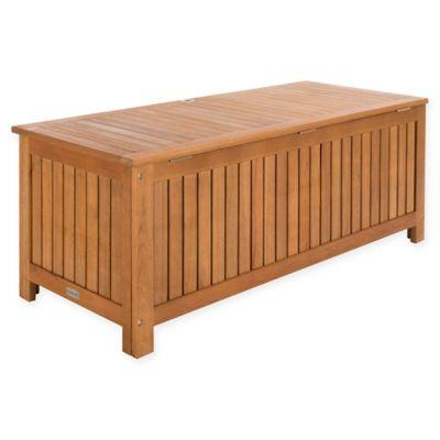 Beau Safavieh Abri Cushion Box In Teak