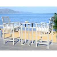 Safavieh Pate 3-Piece Bar Table Bistro Set in Grey Wash