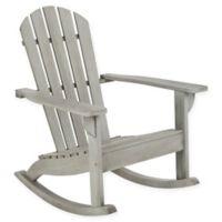 Safavieh Brizio Adirondack Rocking Chair in Grey Wash