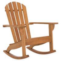 Safavieh Brizio Adirondack Rocking Chair in Teak