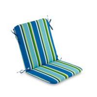 Stripe Mid Back Indoor/Outdoor Chair Cushion in Ocean
