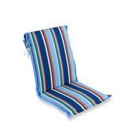 Stripe Sling Back Indoor/Outdoor Cushion in Cobalt