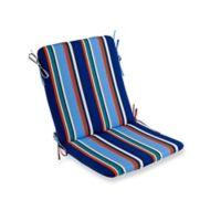Stripe Mid Back Indoor/Outdoor Chair Cushion in Cobalt