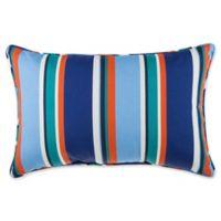 Stripe 13-Inch x 20-Inch Oblong Indoor/Outdoor Throw Pillow in Cobalt