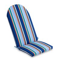 Stripe Outdoor Adirondack Cushion in Cobalt
