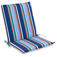 Stripe Indoor/Outdoor Folding Sling Chair Cushion in Cobalt