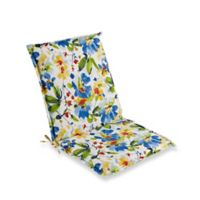 Print Indoor/Outdoor Folding Sling Chair Cushion in Cobalt Calais