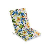Print Indoor/Outdoor Folding Wicker Chair Cushion in Cobalt Calais