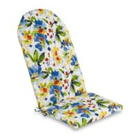 Print Outdoor Adirondack Cushion in Calais Cobalt