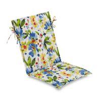 Print Outdoor Sling Chair Cushion in Calais Cobalt