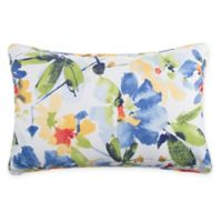 Print Indoor/Outdoor 13-Inch x 20-Inch Throw Pillow in Cobalt Calais