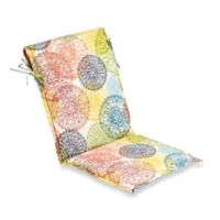 Print Outdoor Sling Chair Cushion in Multicolor Doily