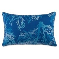 Print Indoor/Outdoor 13-Inch x 20-Inch Throw Pillow in SeaCoral Cobalt