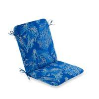 Print Indoor/Outdoor Mid Back Cushion Sea Coral Cobalt