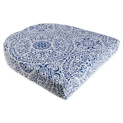 Tachenda Outdoor Wicker Chair Cushion In Indigo