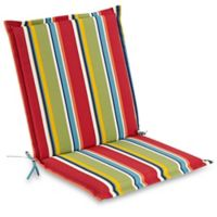 Stripe Indoor/Outdoor Folding Sling Chair Cushion in Cherry