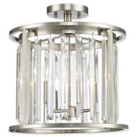 Filament Design Lowell 3-Light Ceiling-Mount Fixture in Brushed Nickel