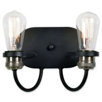 Kenroy Home Damien 2-Light Wall Sconce in Black
