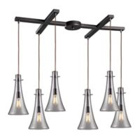 Menlow Park 6-Light Cycl Tiered Pendant Light in Oil Rubbed Bronze