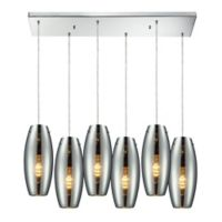 Menlow Park 6-Light Cycl Tiered Pendant Light in Polished Chrome