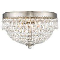 Filament Design Dana 3-Light Flush-Mount Ceiling Fixture in Brushed Nickel