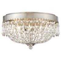 Filament Design Dana 4-Light Flush-Mount Ceiling Fixture in Brushed Nickel