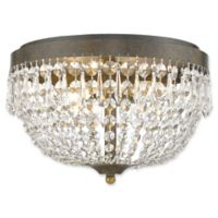 Filament Design Dana 4-Light Flush-Mount Ceiling Fixture in Gold/Bronze