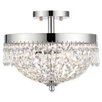 Filament Design Dana 3-Light Semi Flush-Mount Ceiling Fixture in Chrome