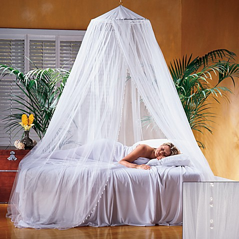 Nile bed canopy bed bath beyond for Bed with mosquito net decoration