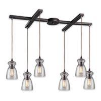 Elk Lighting Menlow Park 6-Light Pendant Light in Oil Rubbed Bronze