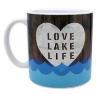 """Love Lake Life"" Mug in Blue"
