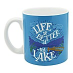 """Life is Better at the Lake"" Mug in Blue"