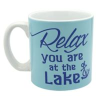 """""""Relax You Are at the Lake"""" Mug in Blue"""