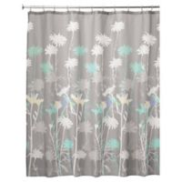 IDesignR Daizy 72 Inch X Shower Curtin In Grey Mint