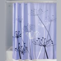 IDesignR 72 Inch X Thistle Fabric Shower Curtain In Purple