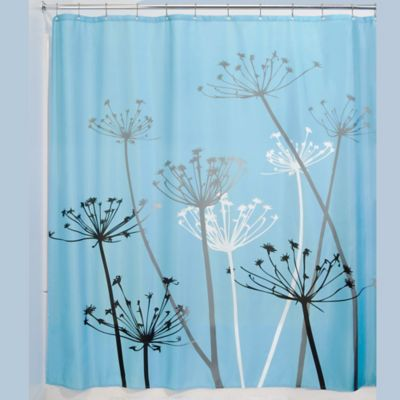 InterDesignR 72 Inch X Thistle Fabric Shower Curtain In Black