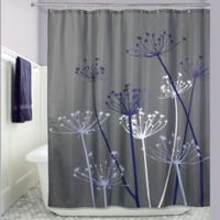 iDesign® 72-Inch x 72-Inch Thistle Fabric Shower Curtain in Grey