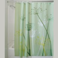 iDesign® 72-Inch x 72-Inch Thistle Fabric Shower Curtain in Green