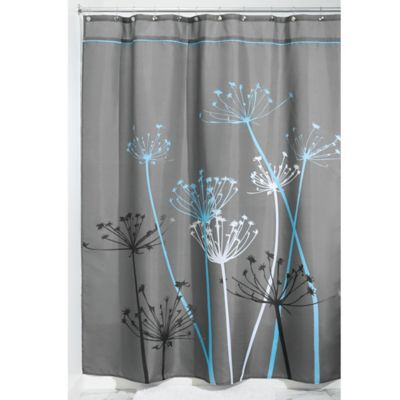 InterDesignR 72 Inch X 84 Thistle Fabric Shower Curtain In Grey