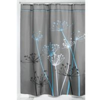 iDesign® 72-Inch x 84-Inch Thistle Fabric Shower Curtain in Grey/Blue