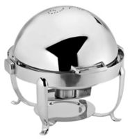 Octave 7 qt. Stainless Steel Round Chafer with Roll-Top Cover