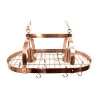 Elegant Designs Home 2-Light Kitchen Pot Rack in in Copper