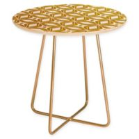 Deny Designs Heather Dutton Stardust Round Side Table in Gold
