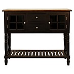 Decor Therapy Morgan Eased Edge Console Table/Buffet in Black