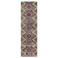 Momeni Casa Chevron Multicolor 7'6 Runner Rug