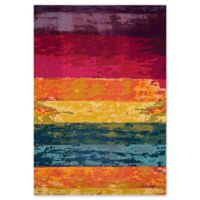 Momeni Casa Multicolor Stripes 3'11 x 5'7 Area Rug