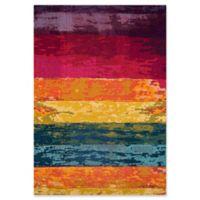 Momeni Casa Multicolor Stripes 5'3 x 7'6 Area Rug