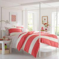 Poppy & Fritz® Sloane Full/Queen Duvet Cover Set in Coral/White