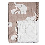 Baby Laundry® Minky Elephant/Tile Blanket in Linen